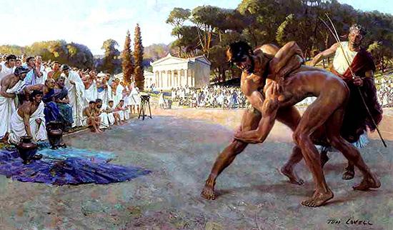Древнегреческий вид олимпийских игр